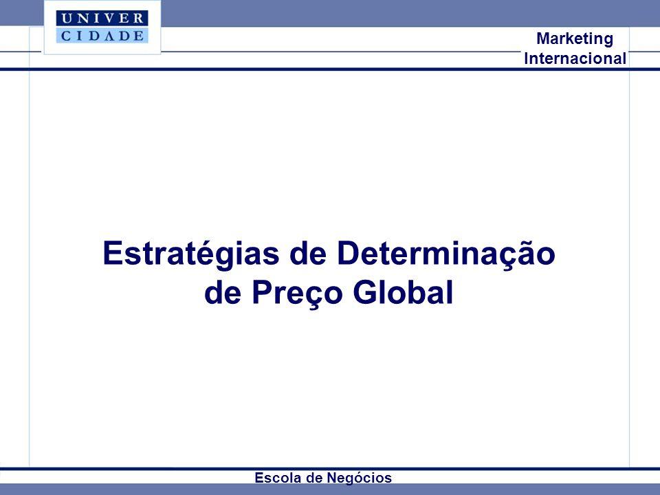Mkt Internacional Marketing Internacional Estratégias de Determinação de Preço Global Escola de Negócios