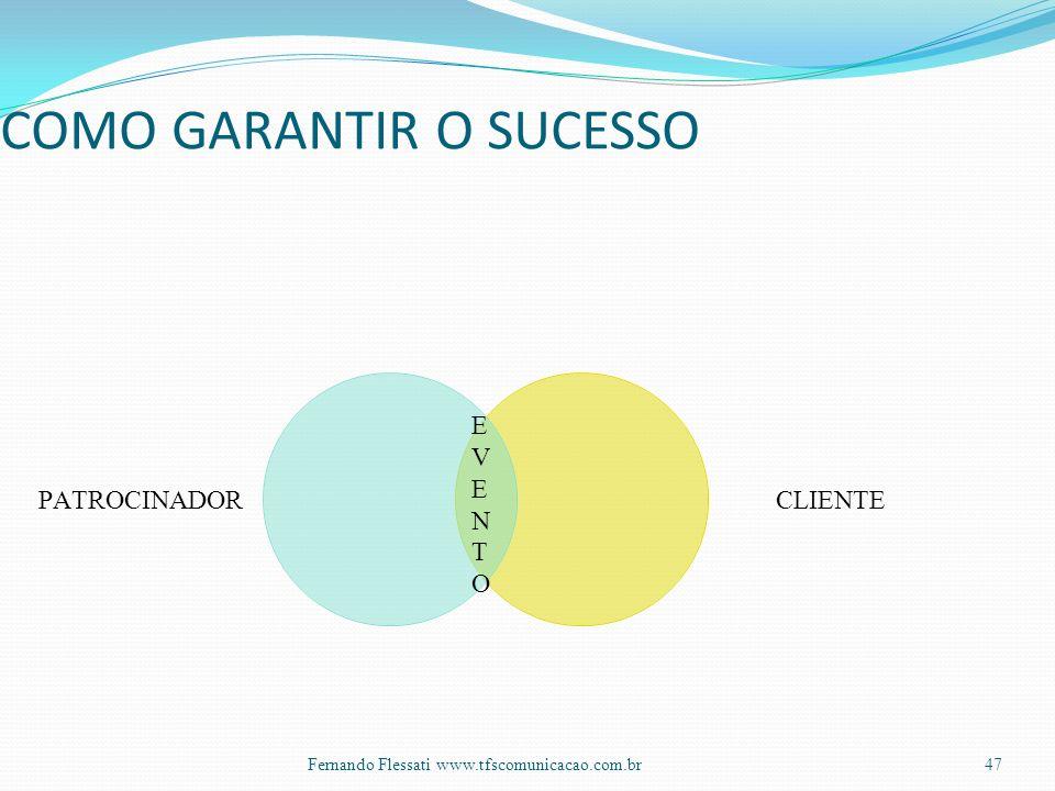 EVENTOEVENTO COMO GARANTIR O SUCESSO 47Fernando Flessati www.tfscomunicacao.com.br