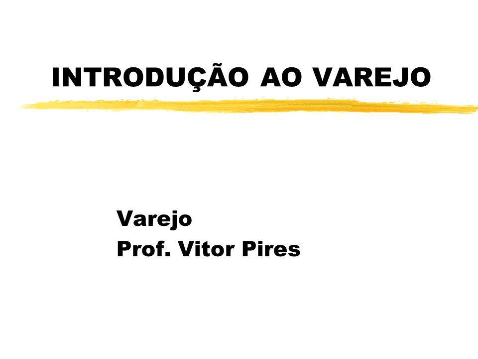 Importância do Varejo na Economia Brasileira zVolume anual de vendas = R$ 100 bilhões zum milhão de lojas z10% PIB brasileiro Principais setores varejistas no Brasil são: 4Varejo de alimentos 4Revendas e lojas de carros 4Lojas de eletrodomésticos 4Varejo de confecção