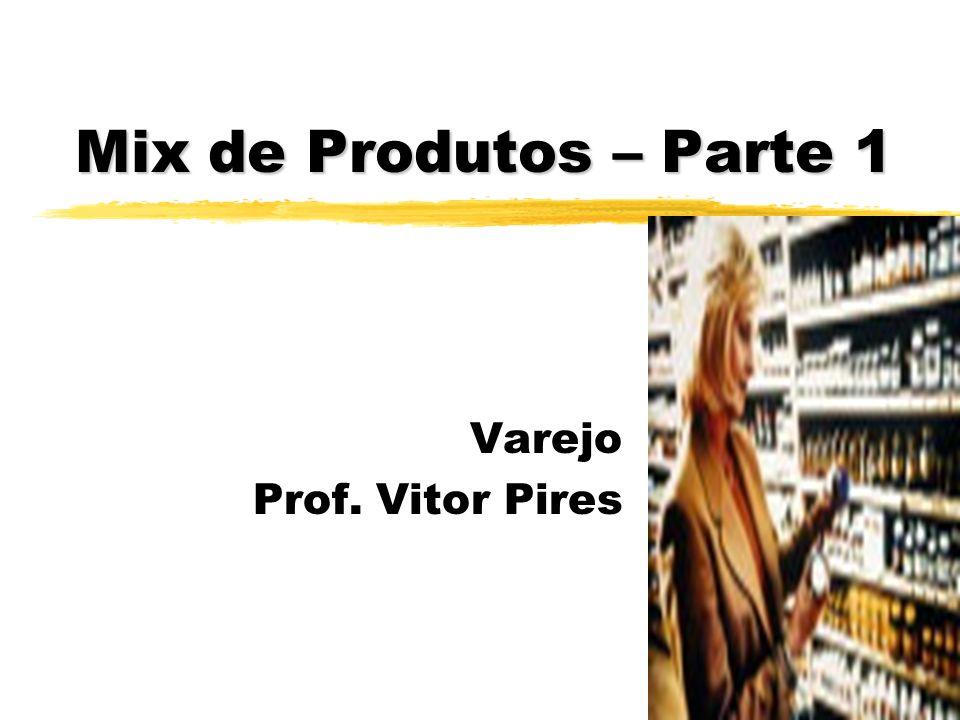 Introdução ao Tema zProdutos - classificam e definem os diferentes tipos varejistas zMix de produtos X Diferencial competitivo zComo as empresas podem trabalhar seu mix de produtos.