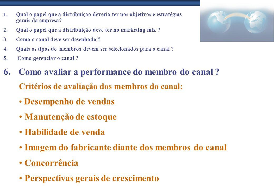 1.Qual o papel que a distribuição deveria ter nos objetivos e estratégias gerais da empresa? 2.Qual o papel que a distribuição deve ter no marketing m