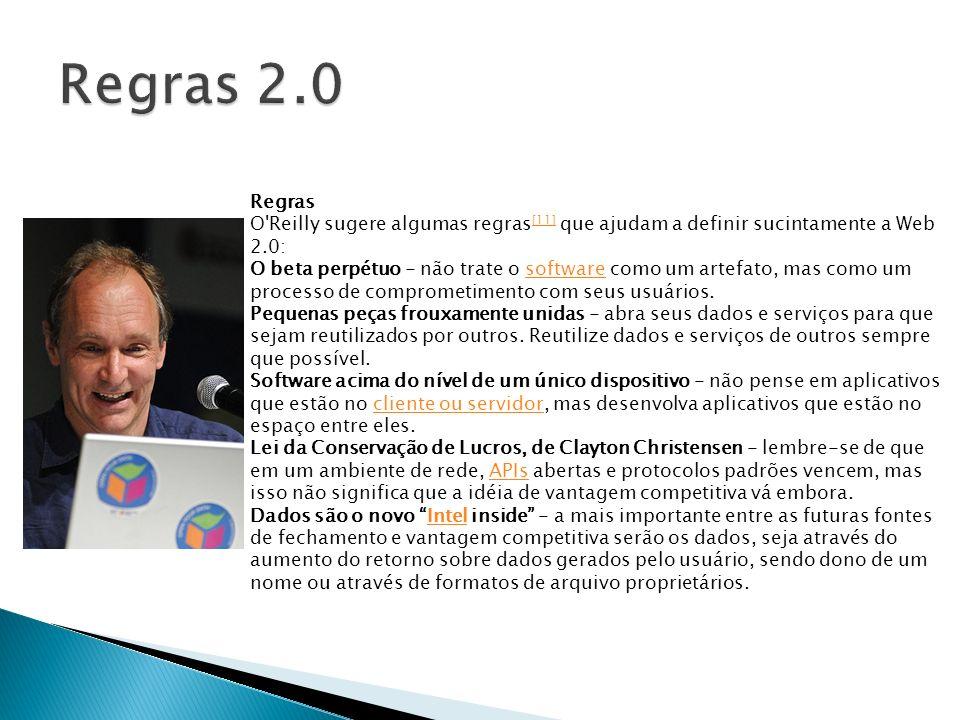 http://tim.oreilly.com/articles/paradigmshift_0504.html http://tim.oreilly.com/articles/paradigmshift_0504.html http://w2br.com/2006/12/12/regras-que-definem-a- web-20 http://w2br.com/2006/12/12/regras-que-definem-a- web-20 Agência Estado.