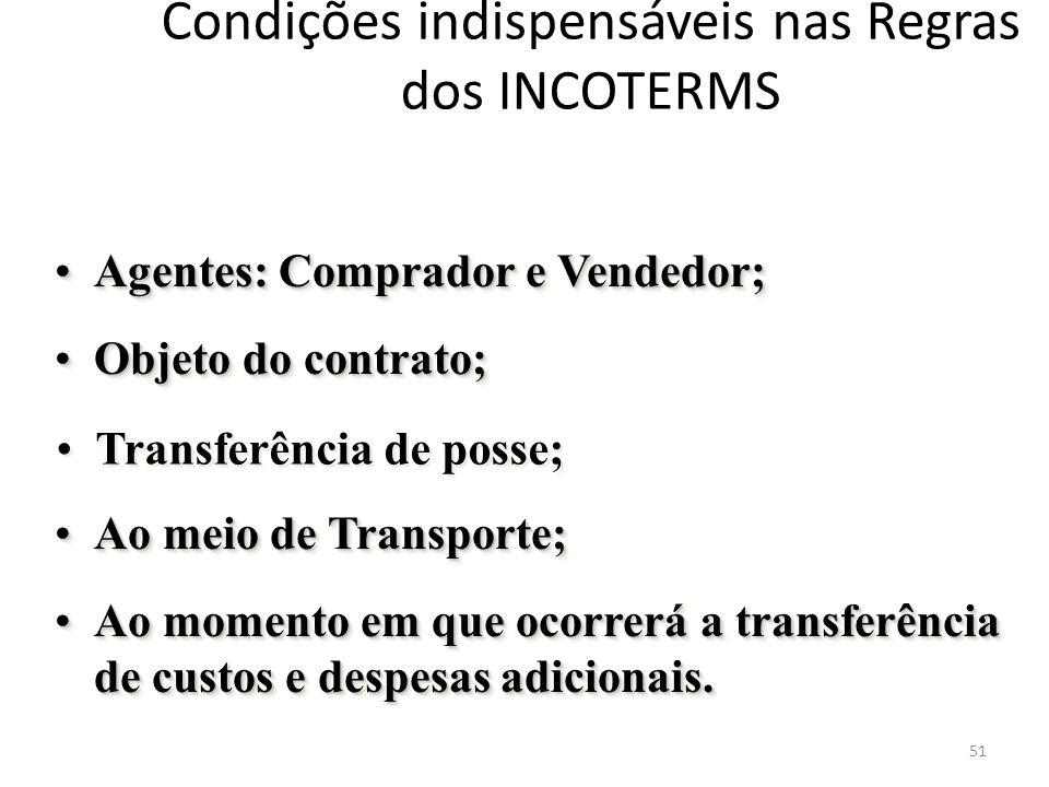 CATEGORIAS DOS INCOTERMS Obrigação do vendedor 52
