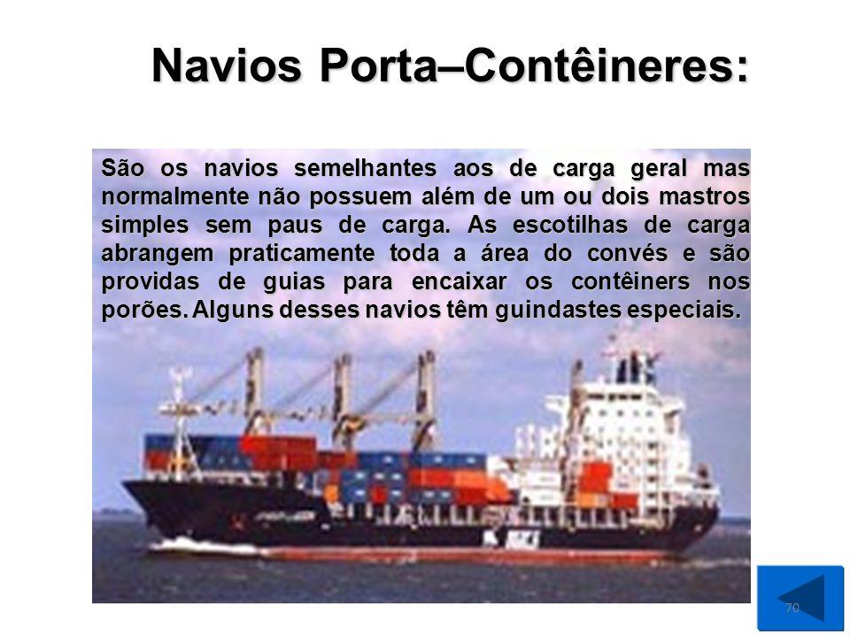 São os grandes navios destinados ao transporte de grandes quantidades de carga solta, ou seja, a granel: milho, trigo, soja, minério de ferro, etc.