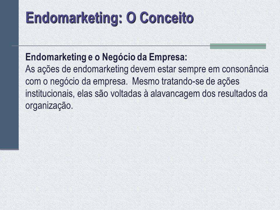 Endomarketing e o Público-Alvo : As ações de endomarketing devem considerar os mais diversos públicos-alvos da organização e suas respectivas linguagens.