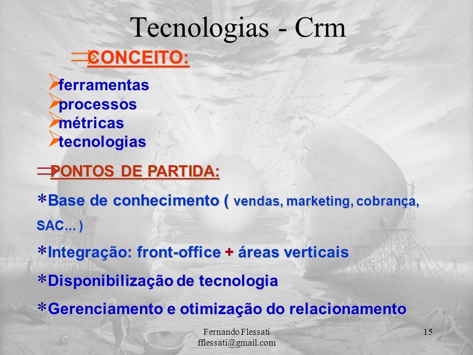 Þ PONTOS DE PARTIDA: * Base de conhecimento ( vendas, marketing, cobrança, SAC... ) * Integração: front-office + áreas verticais * Disponibilização de