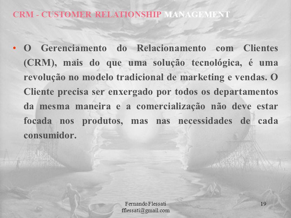 O Gerenciamento do Relacionamento com Clientes (CRM), mais do que uma solução tecnológica, é uma revolução no modelo tradicional de marketing e vendas