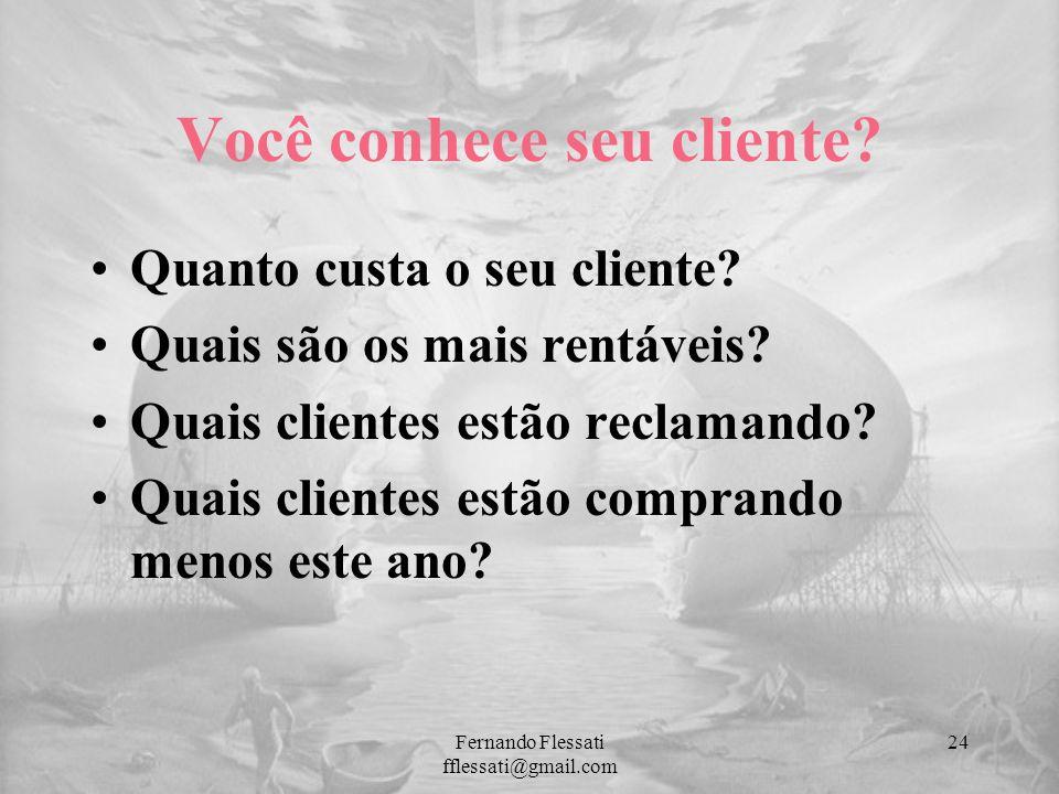 Você conhece seu cliente? Quanto custa o seu cliente? Quais são os mais rentáveis? Quais clientes estão reclamando? Quais clientes estão comprando men