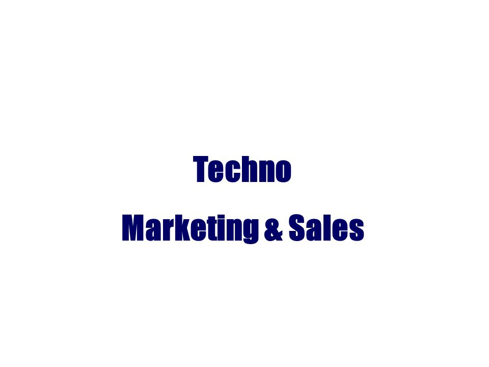 Techno Marketing & Sales