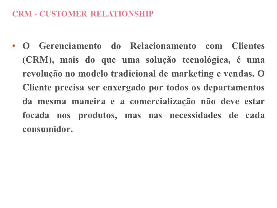 CRM CUSTOMER RELATIONSHIP MANAGEMENT AUTOMAÇÃO E INTEGRAÇÃO DOS PROCESSOS DO NEGÓCIO QUE ENVOLVEM OS PONTOS DE CONTATO COM O CLIENTE (FRONT OFFICE), ATRAVÉS DE MÚLTIPLOS CANAIS DE COMUNICAÇÃO INTERCONECTADOS