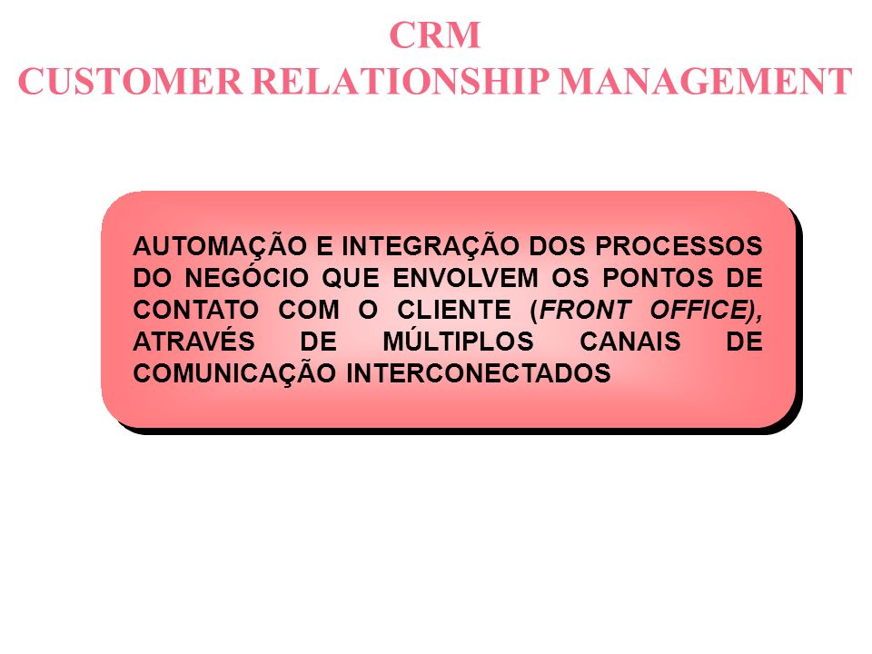 O que é CRM .