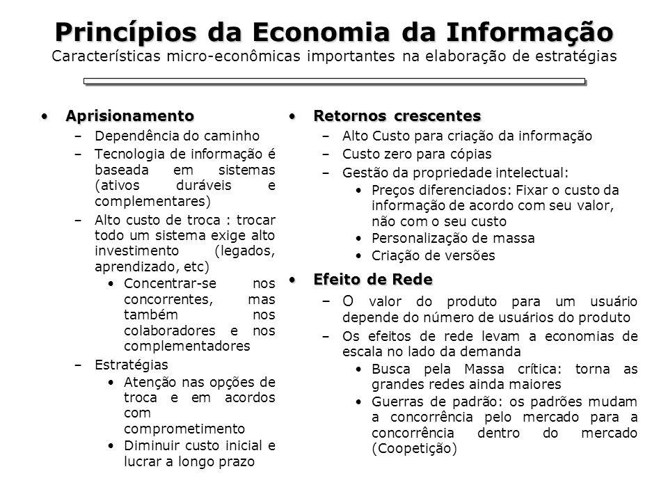 Princípios da Economia da Informação Princípios da Economia da Informação Características micro-econômicas importantes na elaboração de estratégias Ap