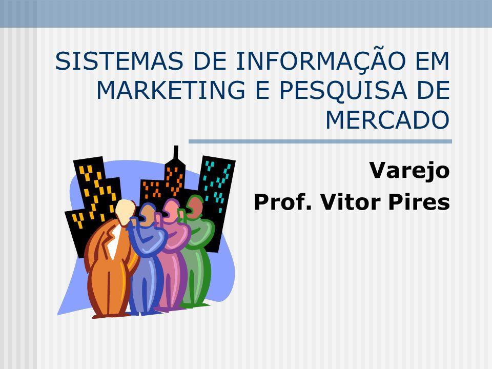 SISTEMAS DE INFORMAÇÃO EM MARKETING E PESQUISA DE MERCADO Varejo Prof. Vitor Pires