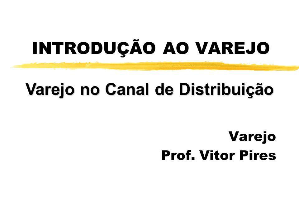 INTRODUÇÃO AO VAREJO Varejo Prof. Vitor Pires Varejo no Canal de Distribuição