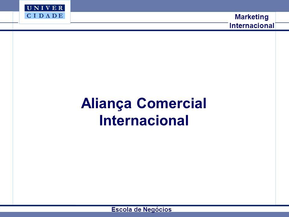 Mkt Internacional Marketing Internacional Aliança Comercial Internacional Escola de Negócios