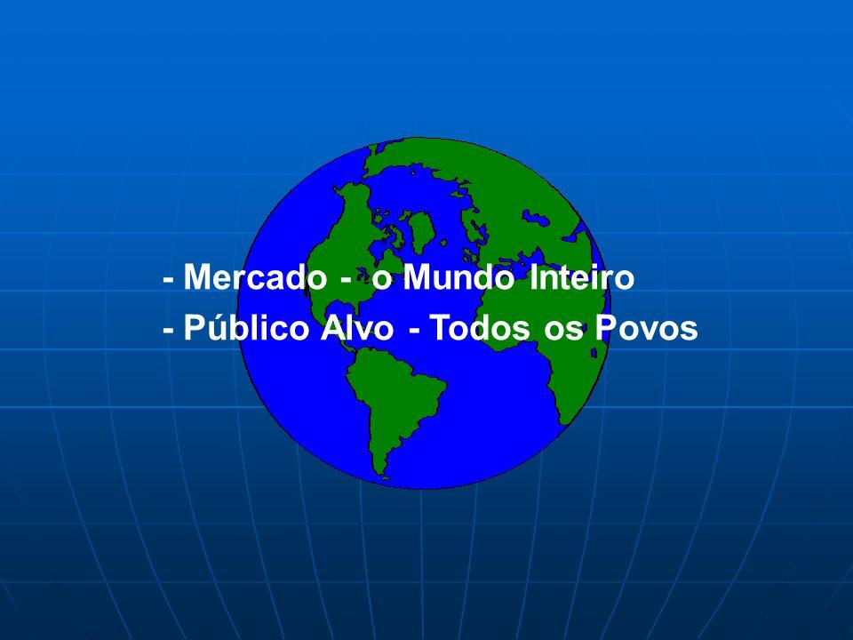 - Mercado - o Mundo Inteiro - Público Alvo - Todos os Povos