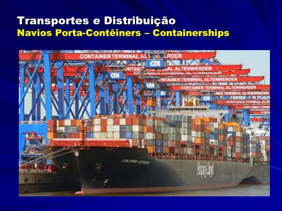 Transportes e Distribuição Transportes e Distribuição Multi Purpose Container Ships - MPPS Modernos Navios Ro-Ro adaptados para levar também Containers