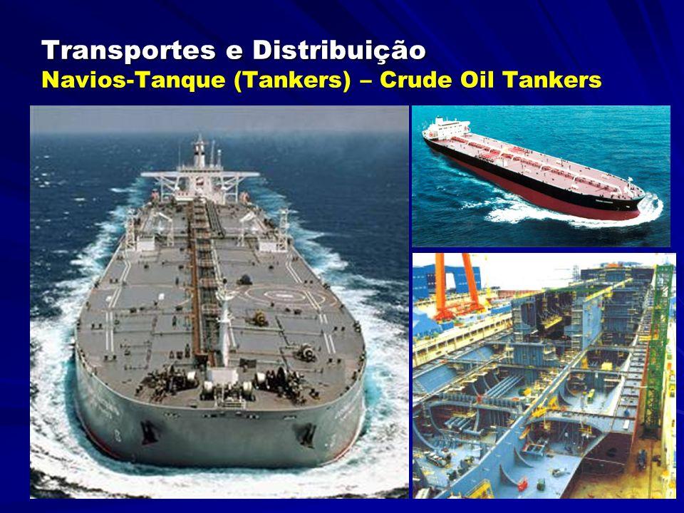 Transportes e Distribuição Transportes e Distribuição Navios-Gaseiros – Gas Tankers São os navios destinados ao transporte de gases liquefeitos.