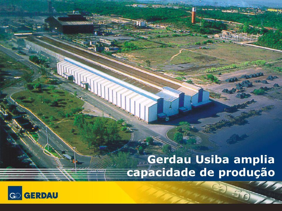 Única planta de redução direta do País Está entre as usinas siderúrgicas mais produtivas do Brasil Destina 75% para o mercado interno e 25% para o mercado externo GERDAU USIBA