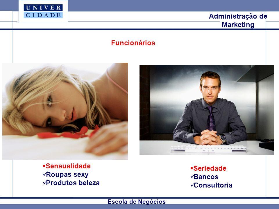 Mkt Internacional Escola de Negócios Administração de Marketing Funcionários Sensualidade Roupas sexy Produtos beleza Seriedade Bancos Consultoria