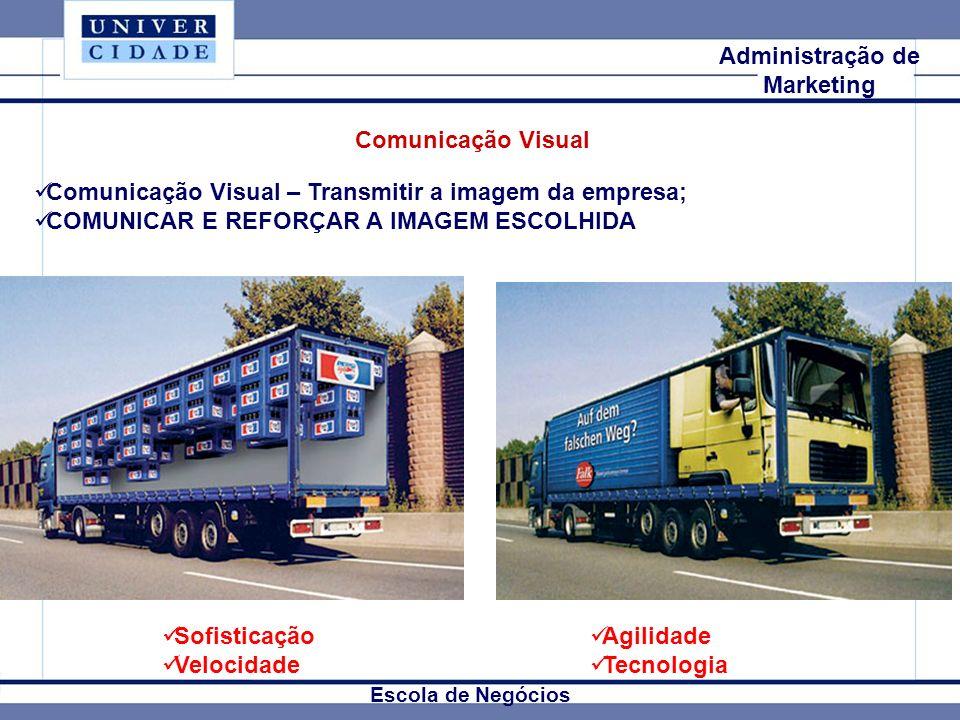 Mkt Internacional Escola de Negócios Administração de Marketing Comunicação Visual Comunicação Visual – Transmitir a imagem da empresa; COMUNICAR E RE