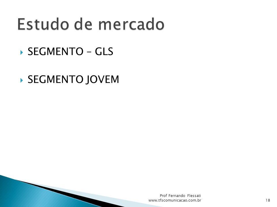 SEGMENTO – GLS SEGMENTO JOVEM Prof Fernando Flessati www.tfscomunicacao.com.br18
