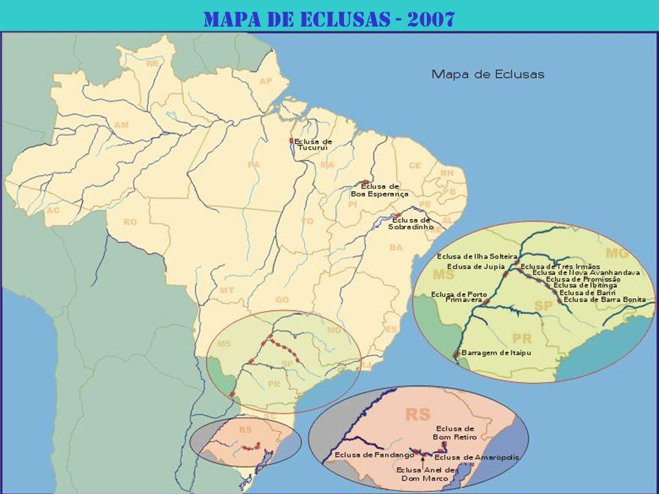 Mapa de eclusas - 2007