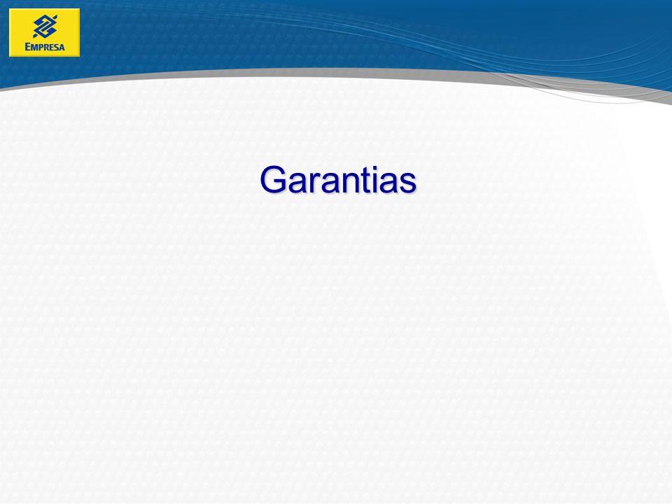Garantias Tipos de Garantias Real: Garante o crédito através da disponibilização de bens.
