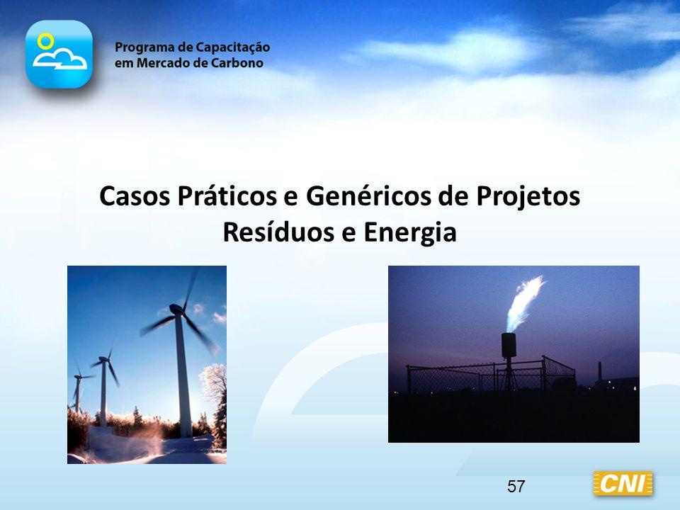 57 Casos Práticos e Genéricos de Projetos Resíduos e Energia