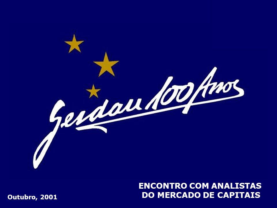 IR E CONTRIBUIÇÃO SOCIAL 22 Em R$ milhões 3T012T01 (15) (39) Melhora de resultados na Gerdau S.A.