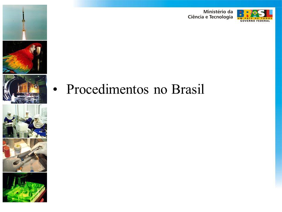 Procedimentos no Brasil