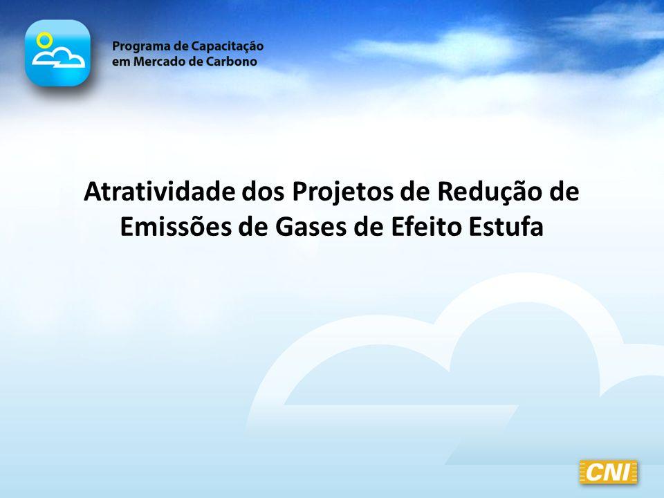 Atratividade dos Projetos de Redução de Emissões de Gases de Efeito Estufa