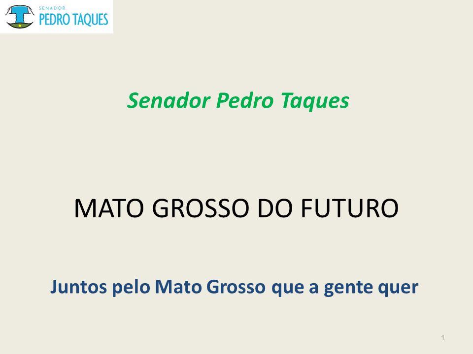 MATO GROSSO DO FUTURO Juntos pelo Mato Grosso que a gente quer Senador Pedro Taques 1