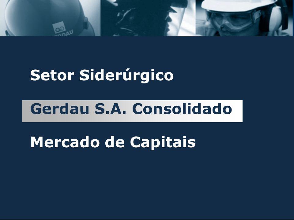 Setor Siderúrgico Gerdau S.A. Consolidado Mercado de Capitais