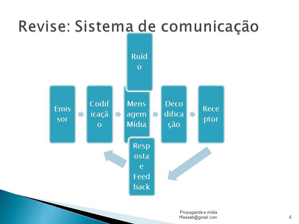 A, propaganda bem como toda a comunicação de uma organização, é resultado da Comunicação e do Marketing.