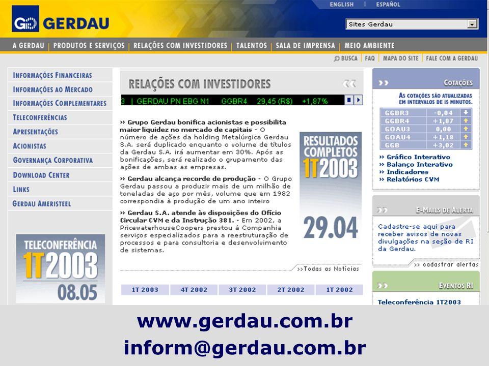 www.gerdau.com.br inform@gerdau.com.br