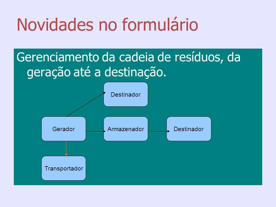 Novidades do formulário Lista Brasileira de Resíduos (IN Ibama n° 13/2012)