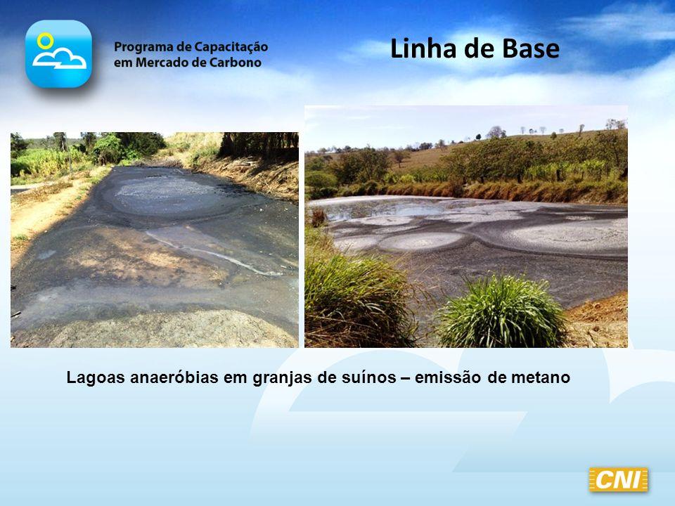 Lagoas anaeróbias em granjas de suínos – emissão de metano Linha de Base