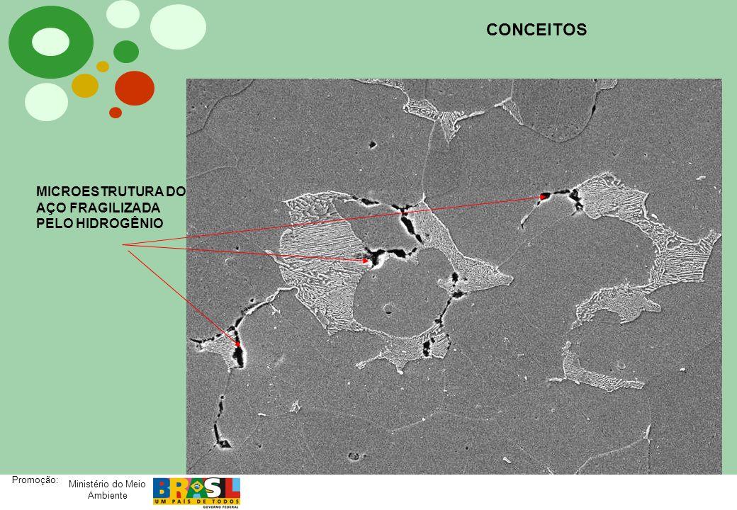 Ministério do Meio Ambiente Promoção: CONCEITOS MICROESTRUTURA DO AÇO FRAGILIZADA PELO HIDROGÊNIO