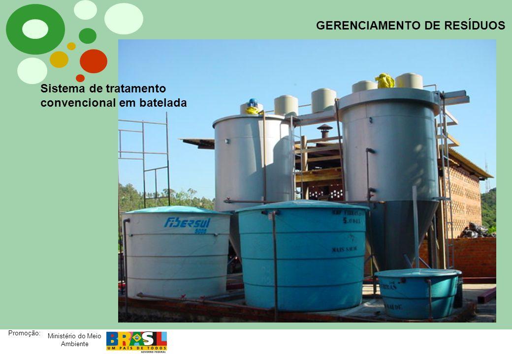 Ministério do Meio Ambiente Promoção: GERENCIAMENTO DE RESÍDUOS Sistema de tratamento convencional em batelada