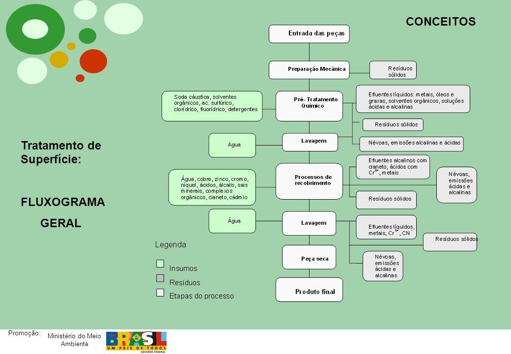 Ministério do Meio Ambiente Promoção: Sistema semi- automático de linha de banhos galvânicos Ni-Cr.