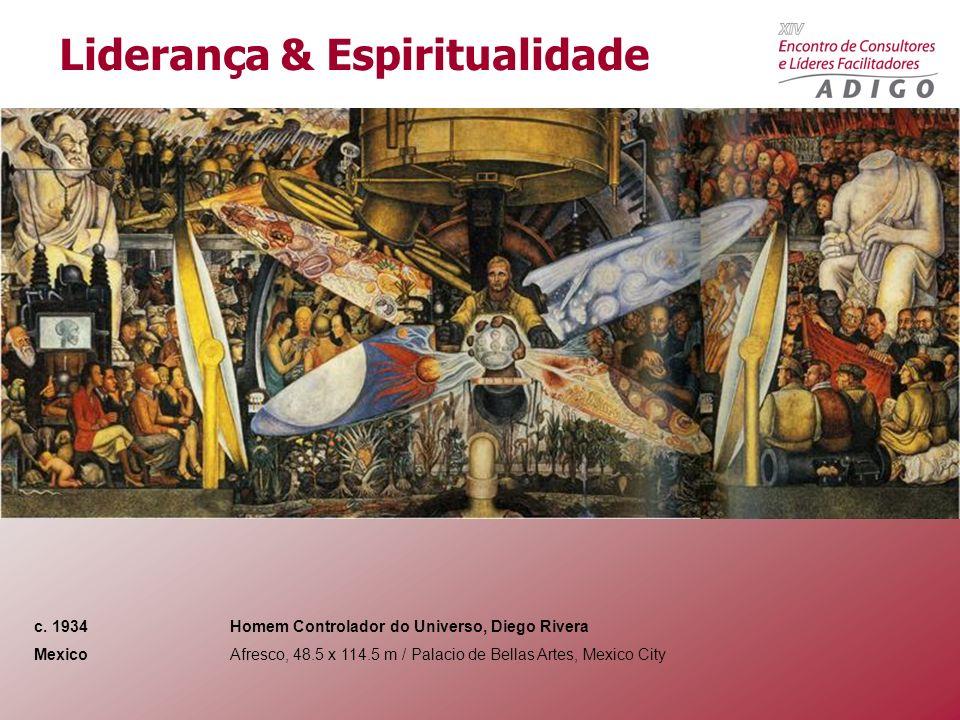c. 1934 Homem Controlador do Universo, Diego Rivera Mexico Afresco, 48.5 x 114.5 m / Palacio de Bellas Artes, Mexico City Liderança & Espiritualidade