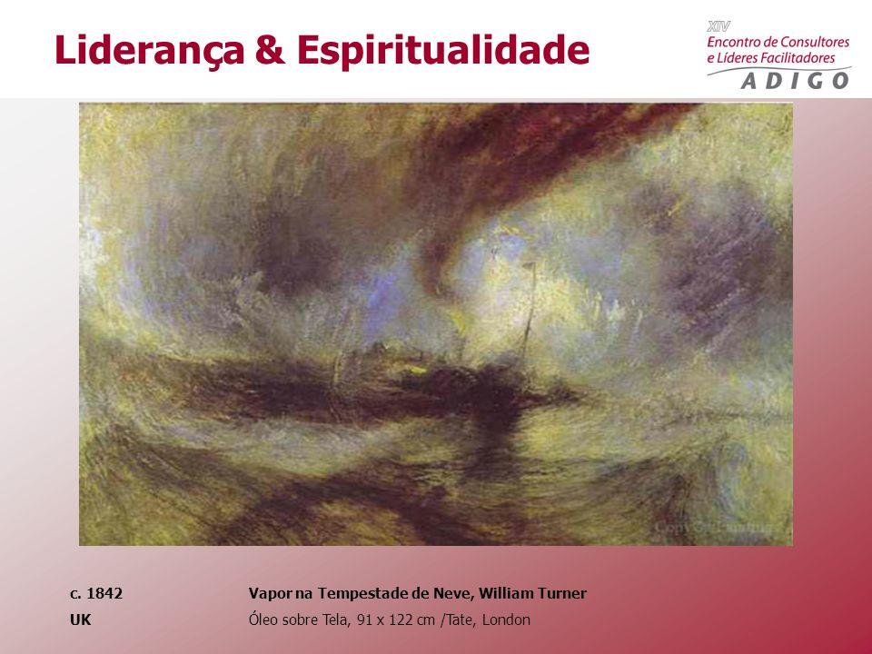 c. 1842 Vapor na Tempestade de Neve, William Turner UK Óleo sobre Tela, 91 x 122 cm /Tate, London Liderança & Espiritualidade