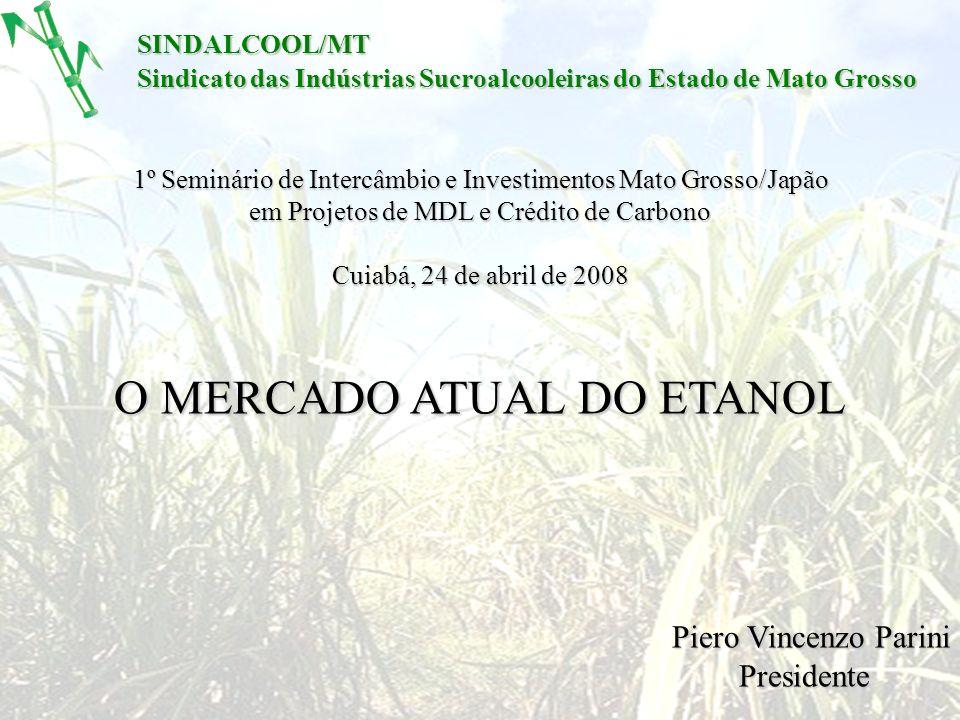 SINDALCOOL/MT Sindicato das Indústrias Sucroalcooleiras do Estado de Mato Grosso 1º Seminário de Intercâmbio e Investimentos Mato Grosso/Japão em Proj
