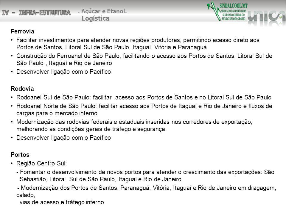 Ferrovia Facilitar investimentos para atender novas regiões produtoras, permitindo acesso direto aos Portos de Santos, Litoral Sul de São Paulo, Itagu