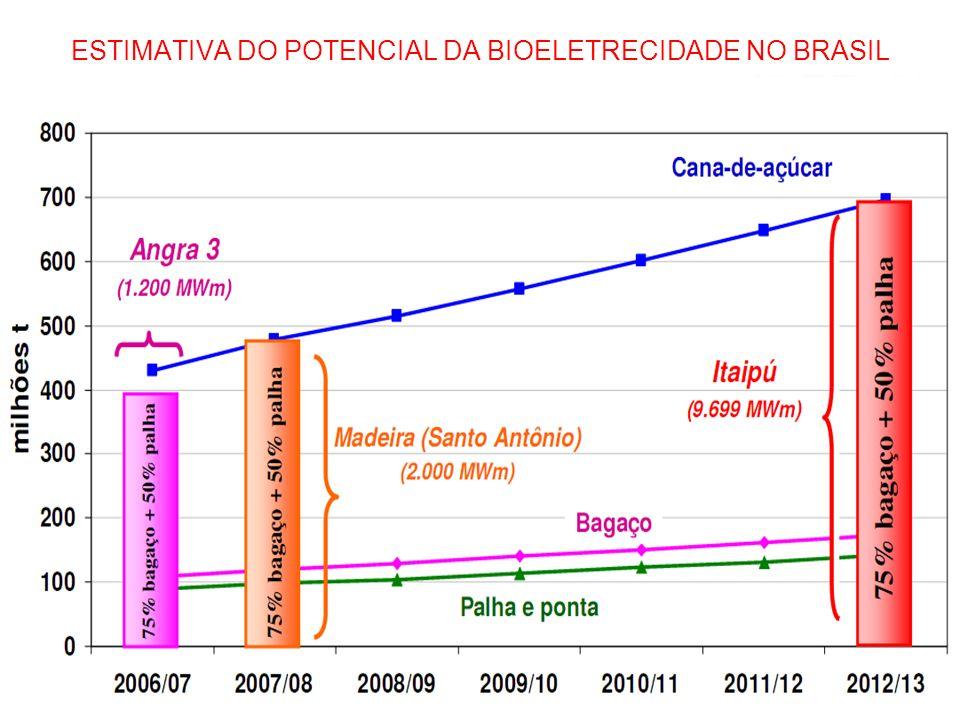 ESTIMATIVA DO POTENCIAL DA BIOELETRECIDADE NO BRASIL e