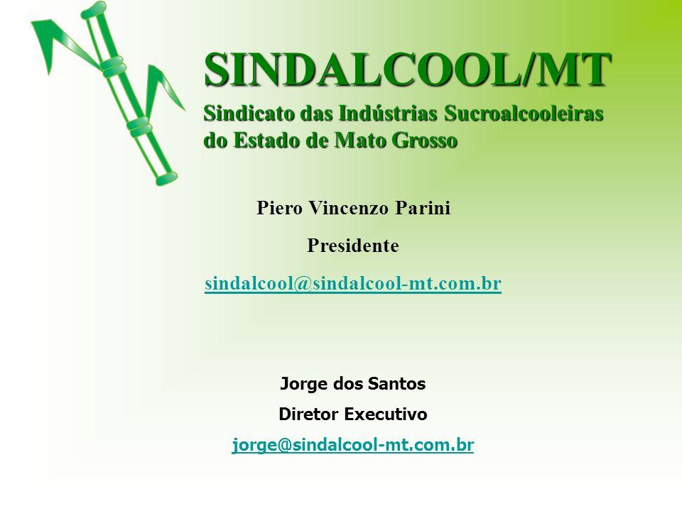 Piero Vincenzo Parini Presidente sindalcool@sindalcool-mt.com.br Jorge dos Santos Diretor Executivo jorge@sindalcool-mt.com.brSINDALCOOL/MT Sindicato