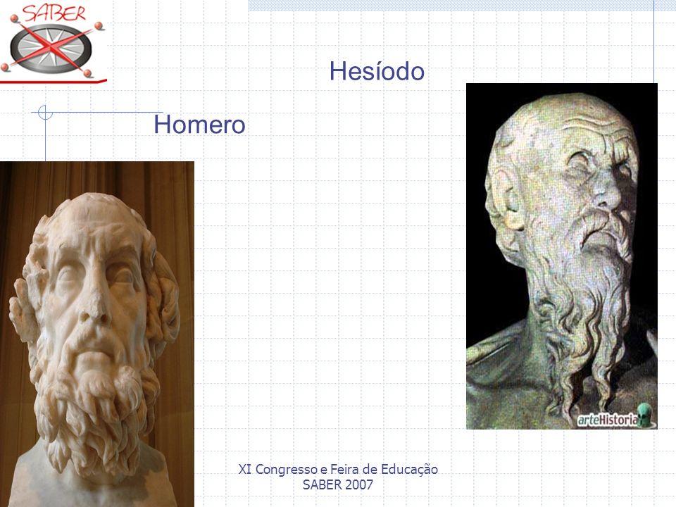 XI Congresso e Feira de Educação SABER 2007 Hesíodo Homero