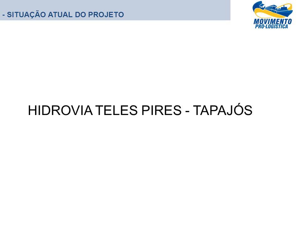 - SITUAÇÃO ATUAL DO PROJETO HIDROVIA TELES PIRES - TAPAJÓS