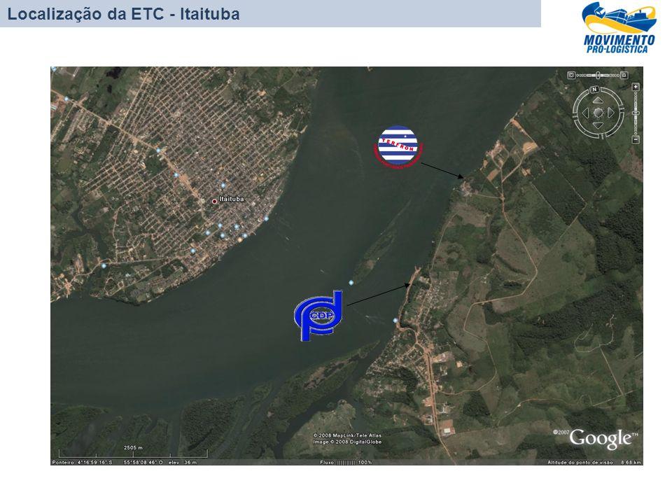 PORTO DE VILA DO CONDE/PA Localização da ETC - Itaituba